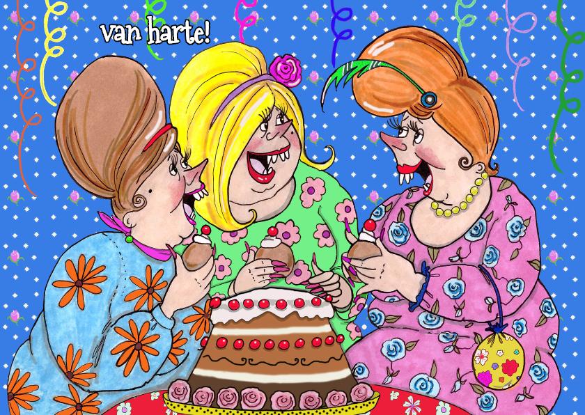 Verjaardagskaarten - Voor de jarige is er taart!