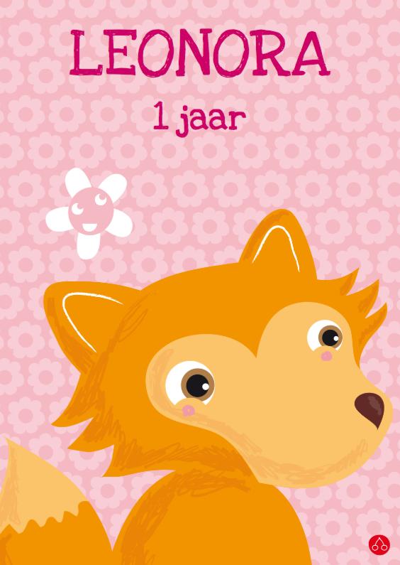 Verjaardagskaarten - Vosje