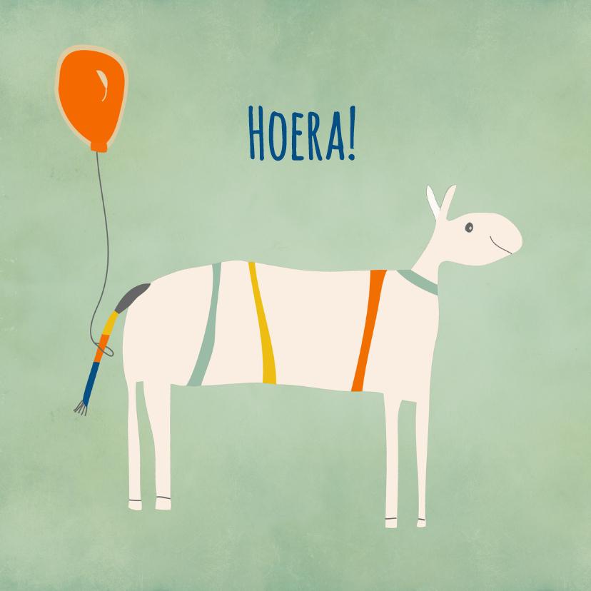 Verjaardagskaarten - Vrolijk dier met ballon