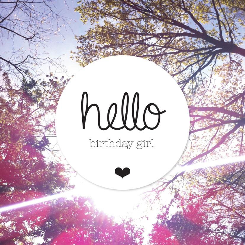 Verjaardagskaarten - vrolijk vintage birthday girl