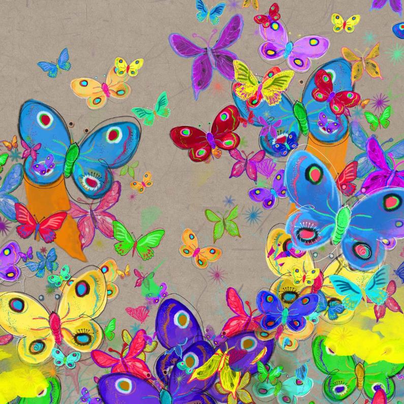 Verjaardagskaarten - Vrolijke vlinders verjaardag