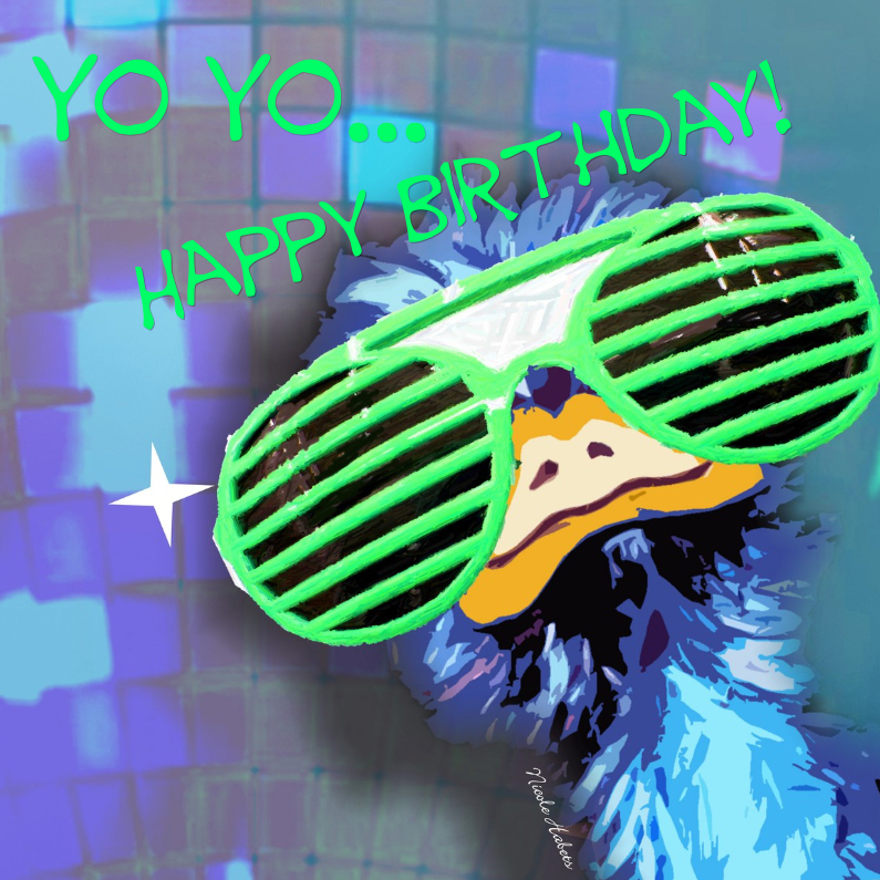 Verjaardagskaarten - Yo yo
