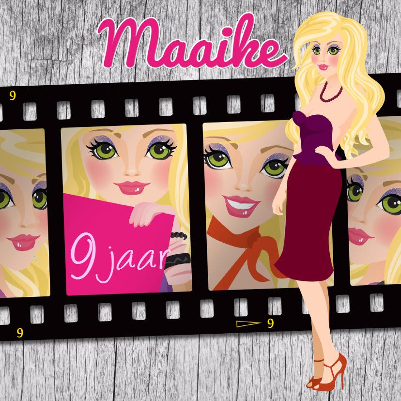 Verjaardagskaarten - YVON model barbie kaart