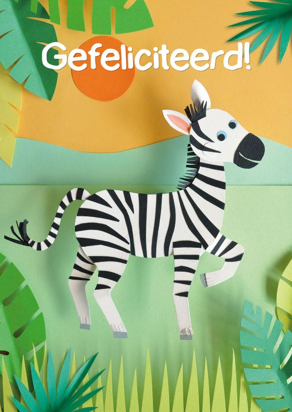 Verjaardagskaarten - Zebra felicitatiekaart