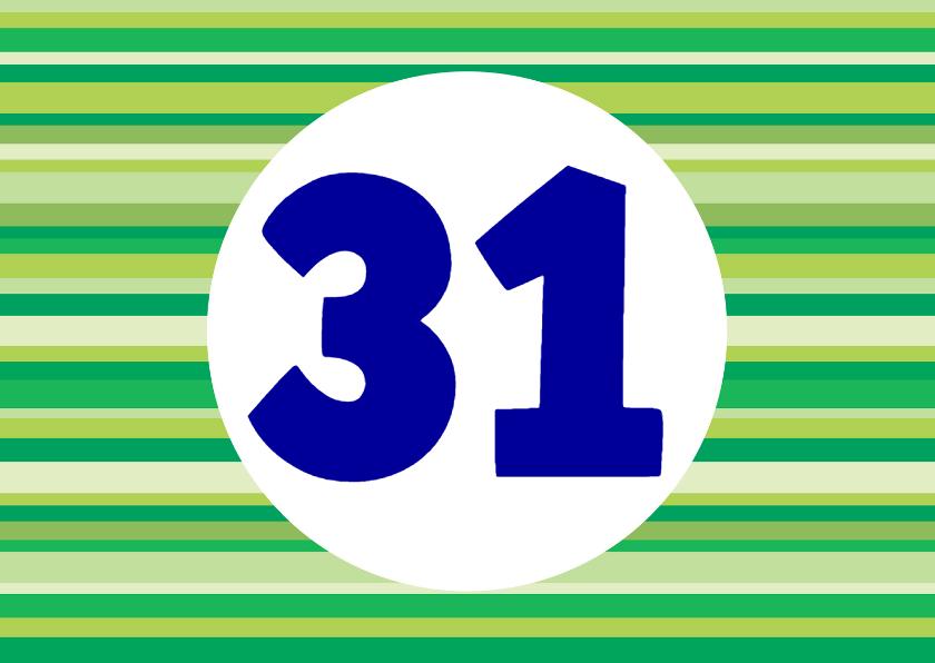Verjaardagskaarten - Zelf in te vullen verjaardagskaart 31