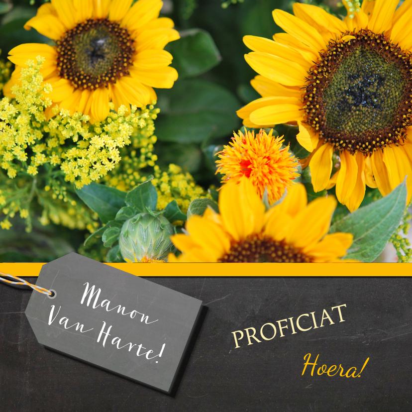 Verjaardagskaarten - Zonnebloemen verjaardagskaart