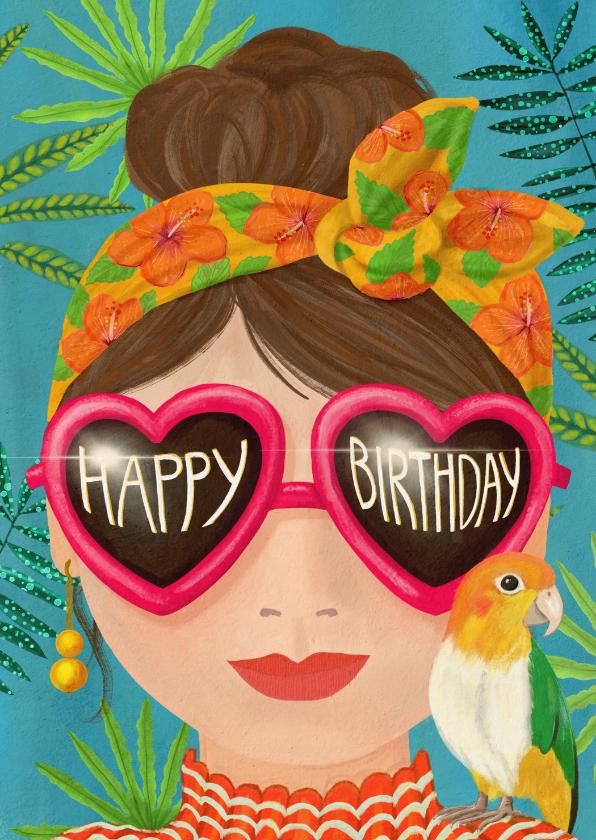 Verjaardagskaarten - Zonnige verjaardagskaart voor meiden