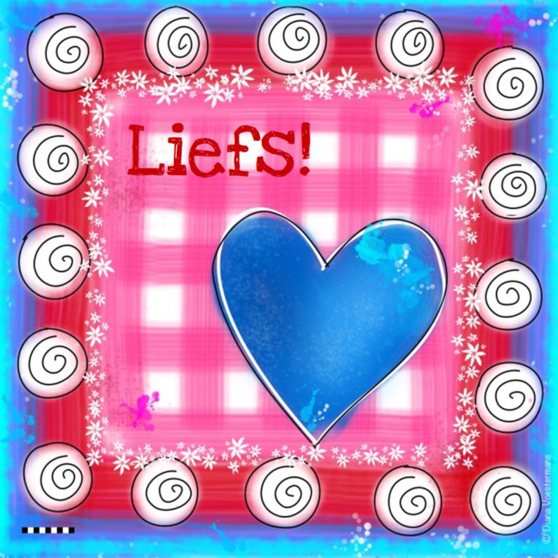 Vriendschap kaarten - Blauw hart liefs