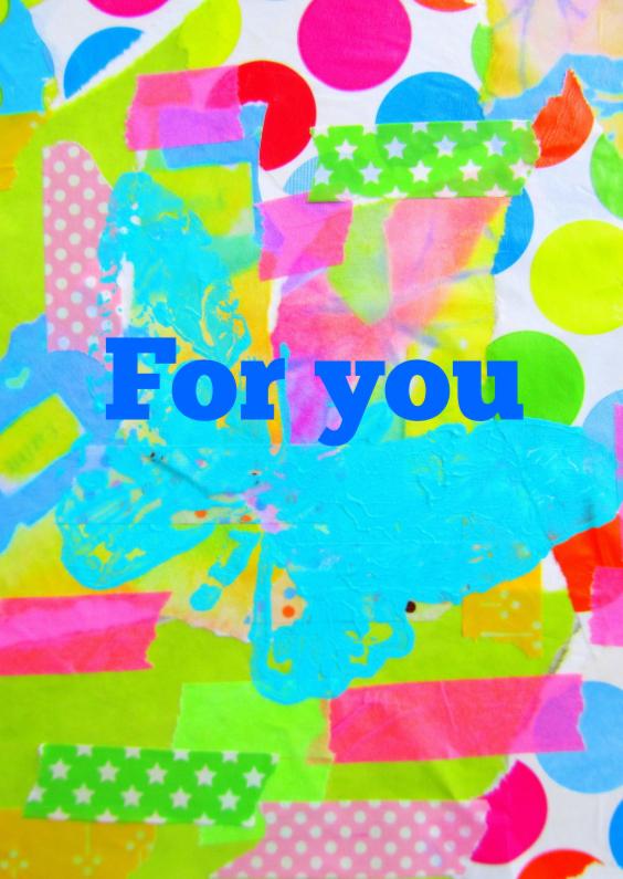 Vriendschap kaarten - For you - just because