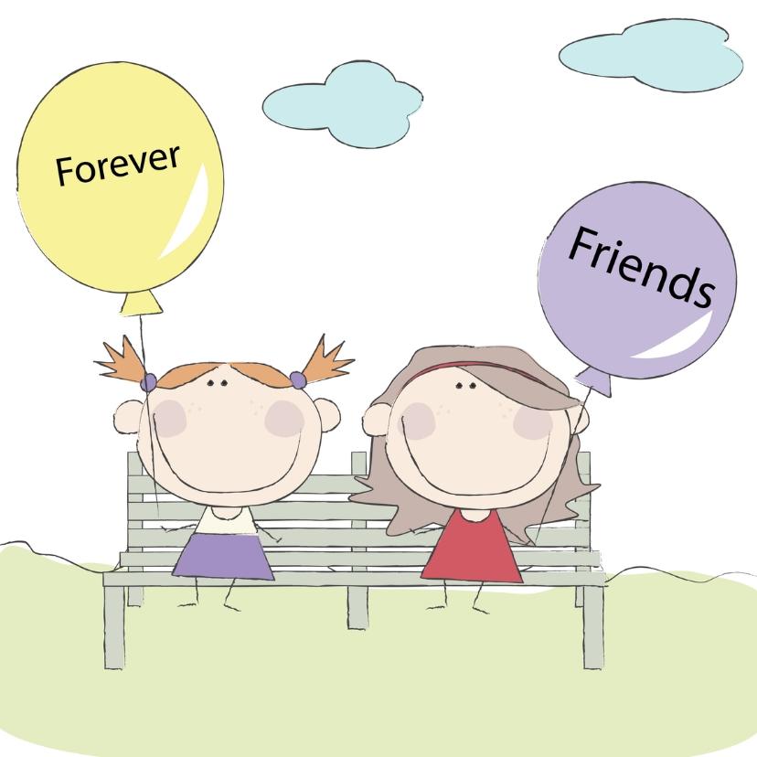 Vriendschap kaarten - Forever Friends balonnen
