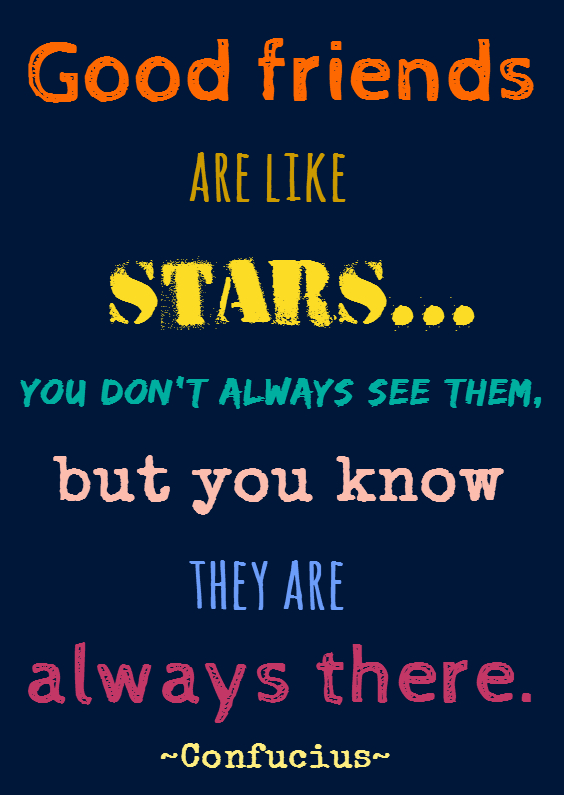 Vriendschap kaarten - Good friends are like stars