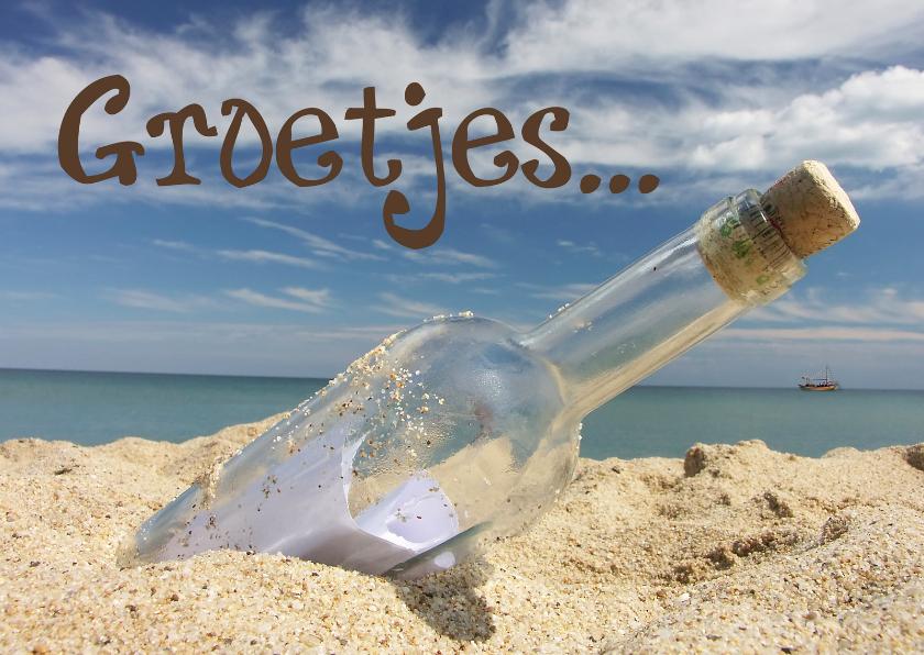 Vriendschap kaarten - Groetjes strand