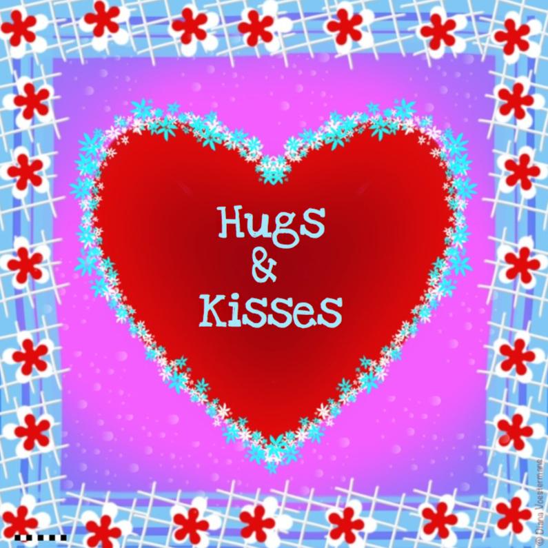 Vriendschap kaarten - Hugs and Kisses