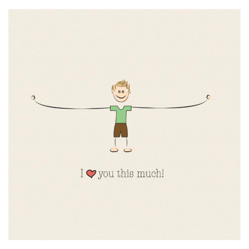Vriendschap kaarten - I love you this much