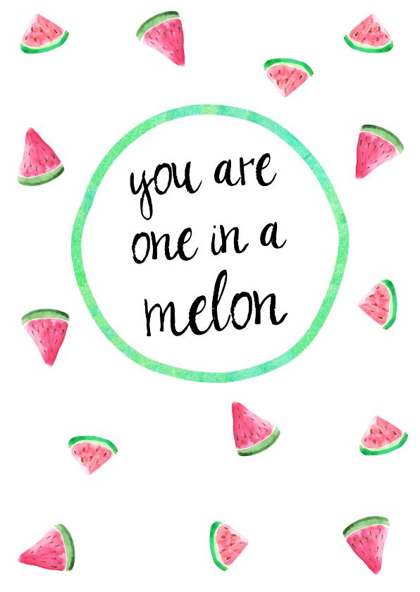 "Vriendschap kaarten - Kaart ""one in a melon"""
