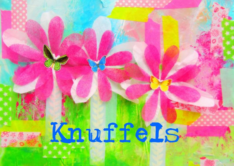 Vriendschap kaarten - Knuffels Happy Flowers