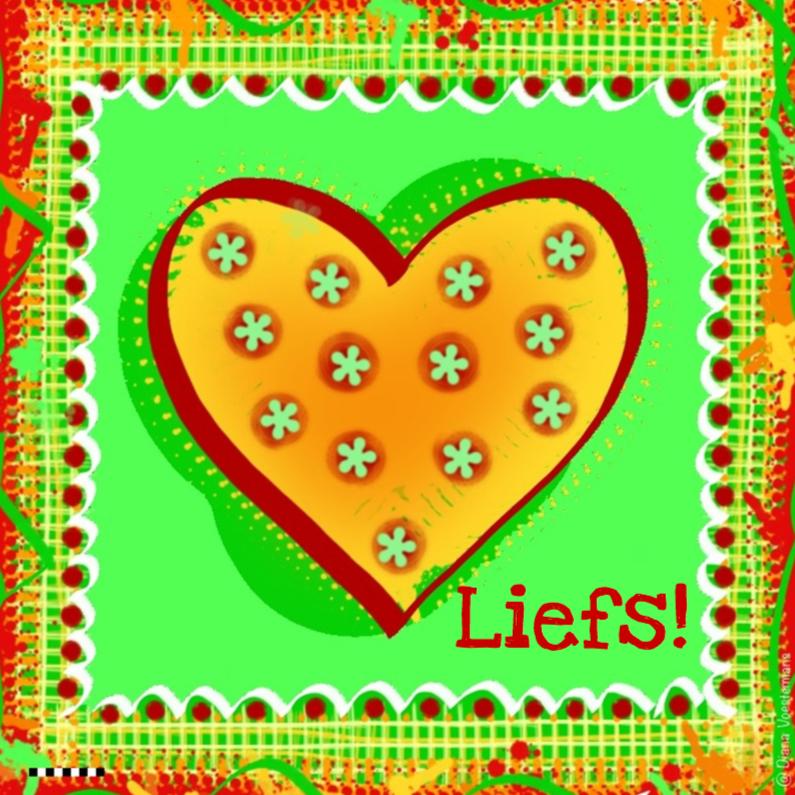 Vriendschap kaarten - Liefs geel hartje