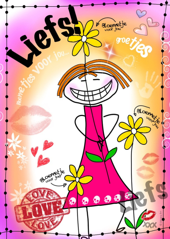 Vriendschap kaarten - Liefs groetjes H4Y