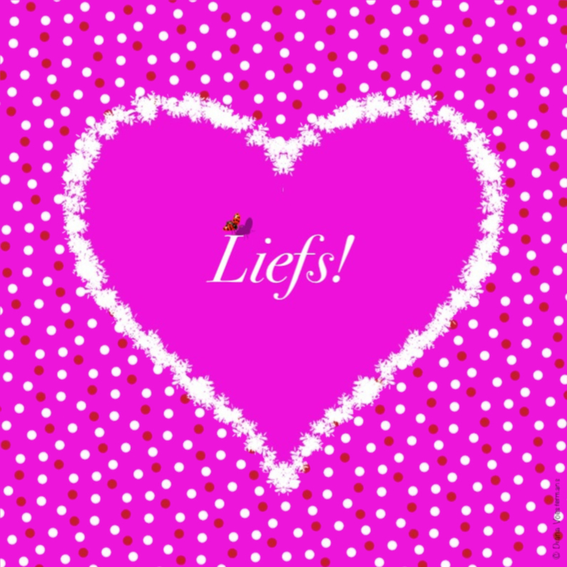 Vriendschap kaarten - Liefs hart en stippen