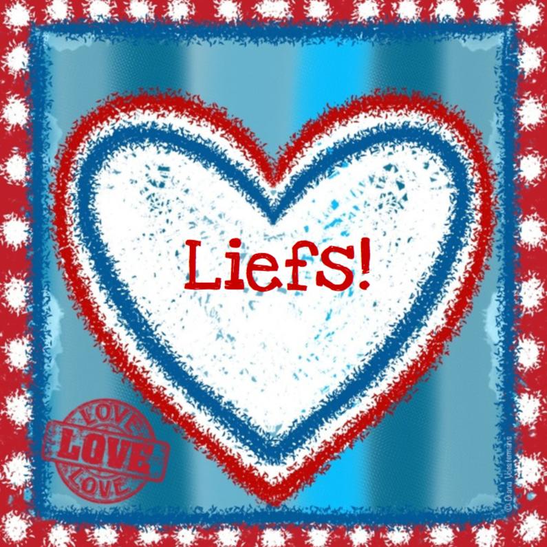 Vriendschap kaarten - Liefs hart rood wit blauw