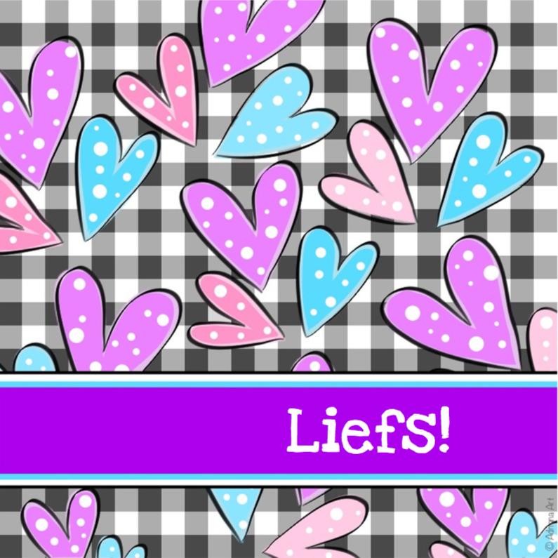 Vriendschap kaarten - Liefs hartjes met stippen