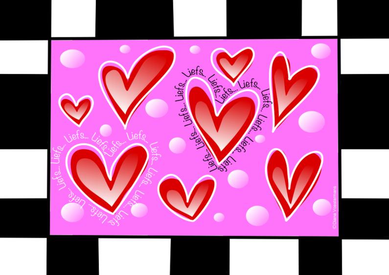 Vriendschap kaarten - Liefs hartjes