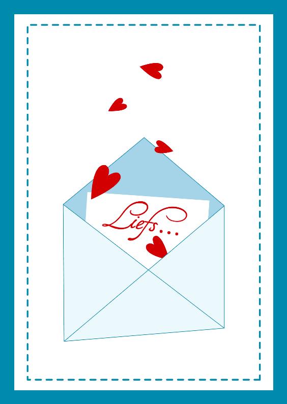 Vriendschap kaarten - Liefs kaart enveloppe