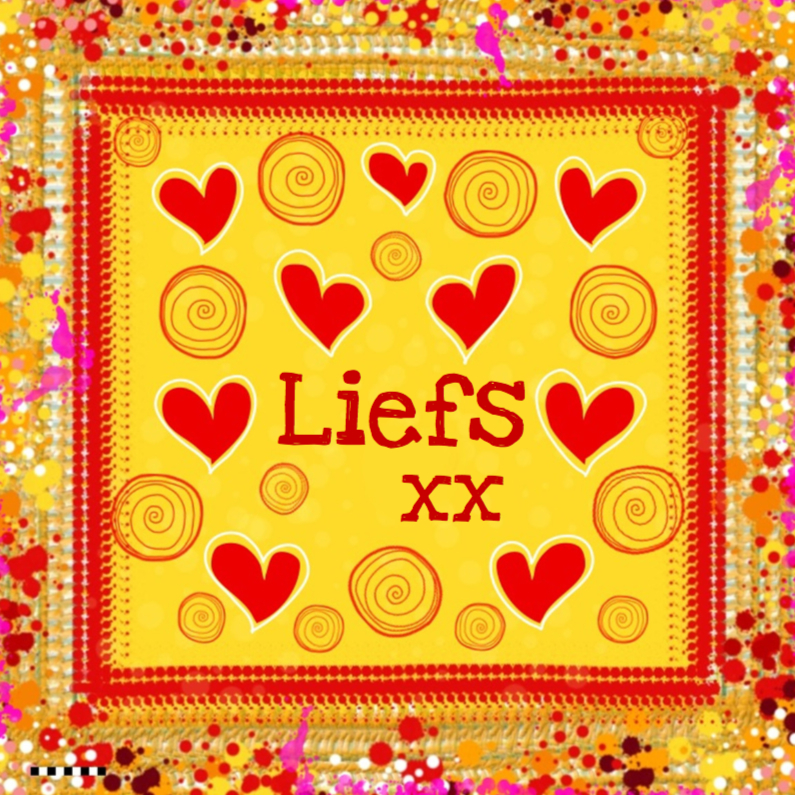 Vriendschap kaarten - Liefs kleurrijk rode hartjes