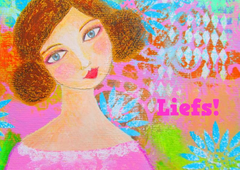 Vriendschap kaarten - Liefs - Meisje