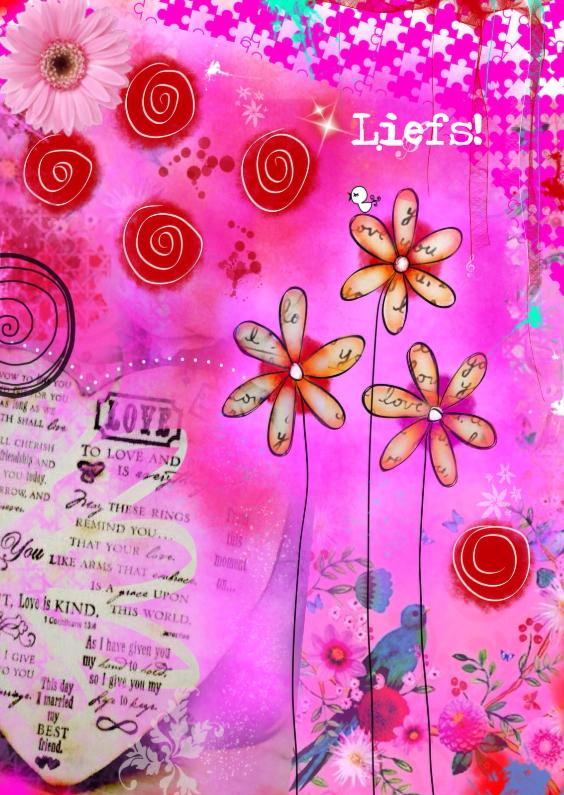 Vriendschap kaarten - Liefs mixed media