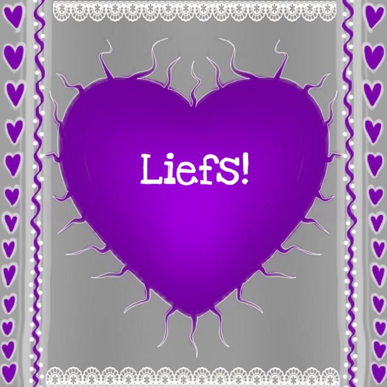 Vriendschap kaarten - Liefs paars hart