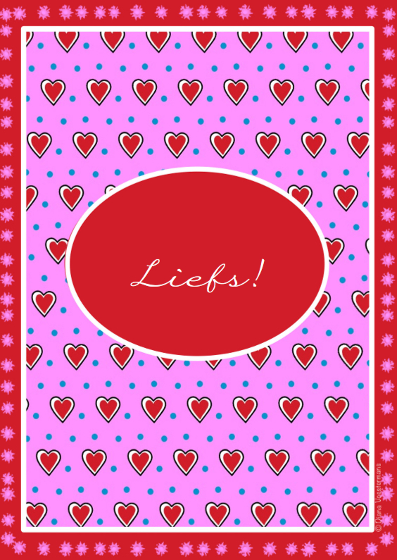 Vriendschap kaarten - Liefs rode hartjes en stippen