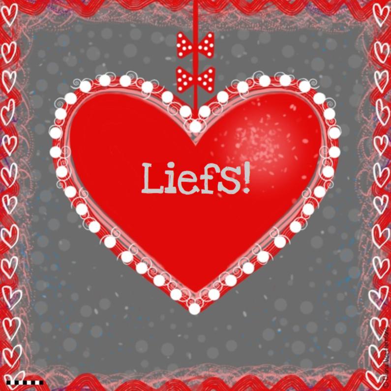 Vriendschap kaarten - Liefs rood hart en strikjes