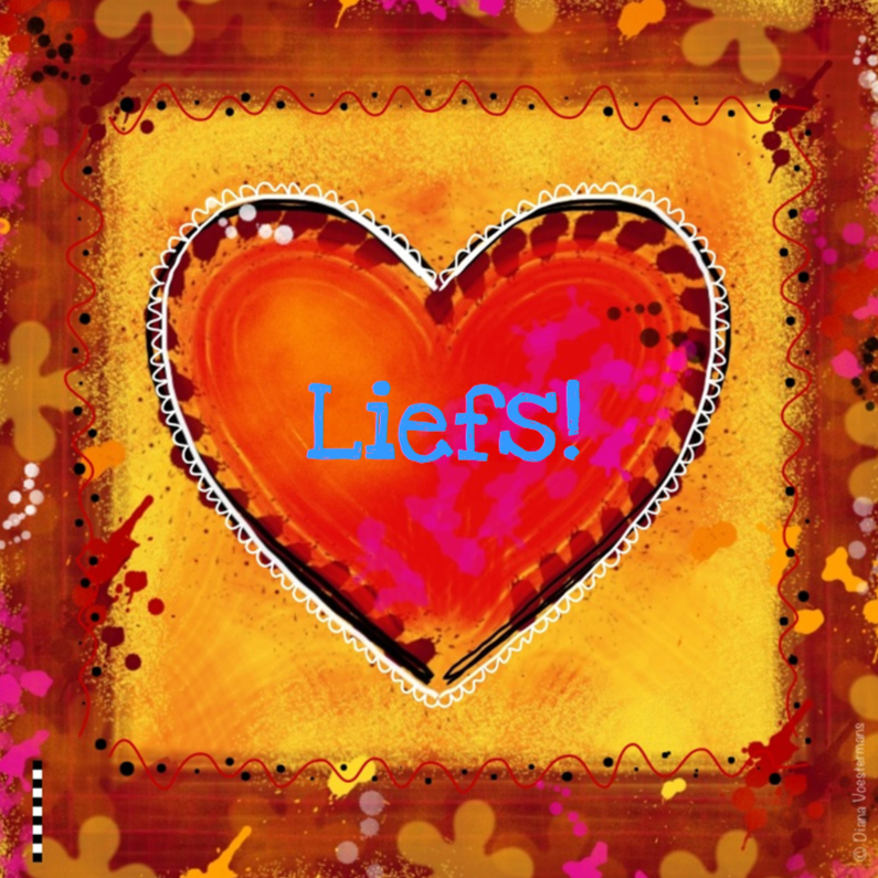 Vriendschap kaarten - Liefs rood roze hart