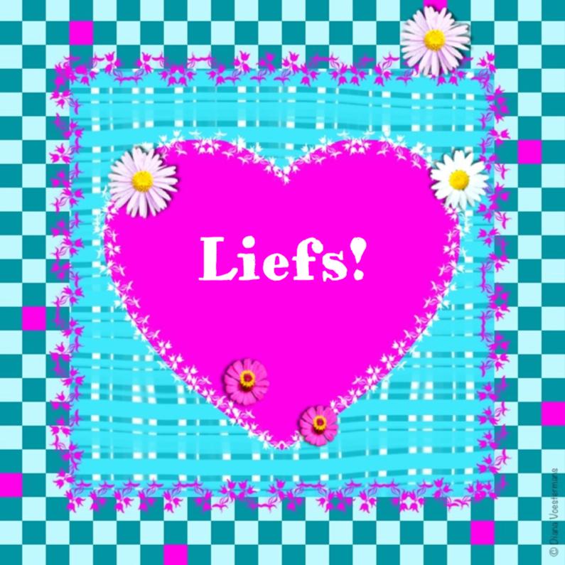 Vriendschap kaarten - Liefs ruitjes en bloemetjes