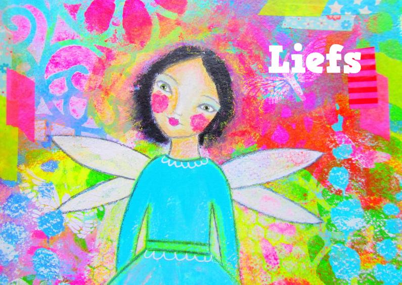 Vriendschap kaarten - Liefs Sweet angel