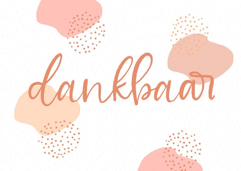 Vriendschap kaarten - Mooie dankbaarheidskaart met warme kleuren