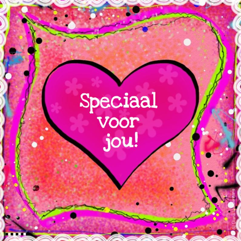 Vriendschap kaarten - Speciaal voor jou roze hart