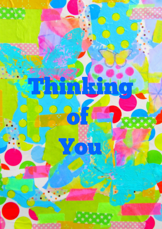 Vriendschap kaarten - Thinking of you - Happy