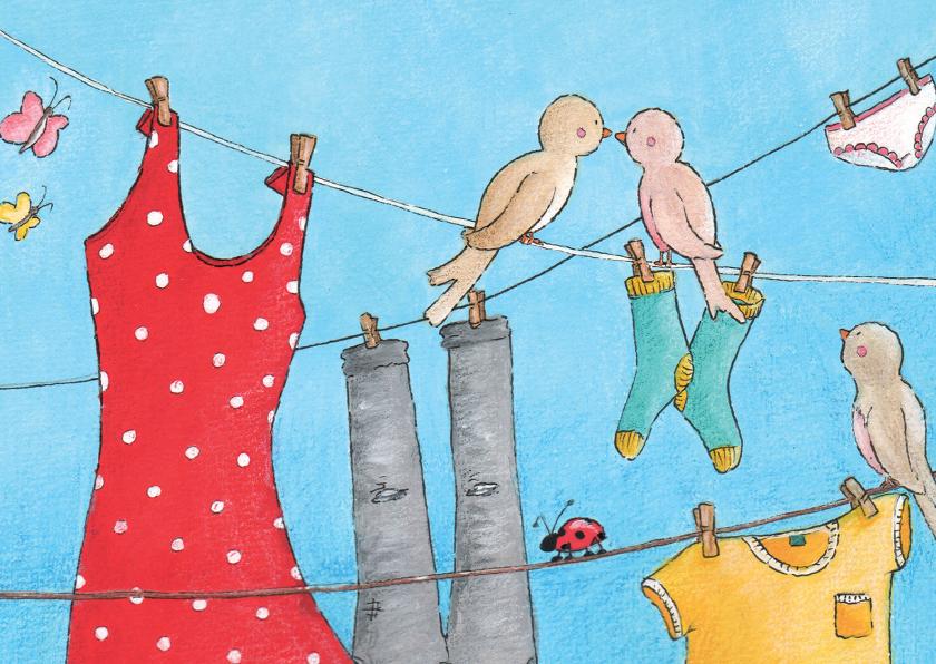 Vriendschap kaarten - Vogeltjes in mei