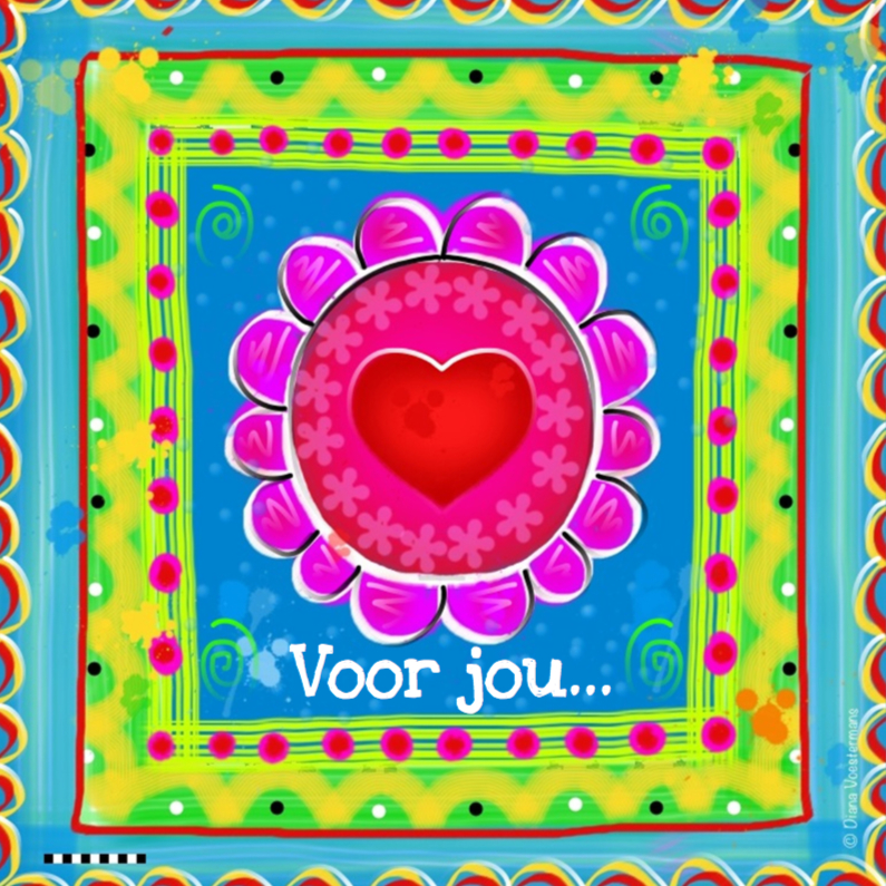Vriendschap kaarten - Voor jou bloemetje met hartje