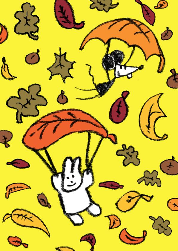 Vriendschap kaarten - Vriendschap Joep en Hop herfst