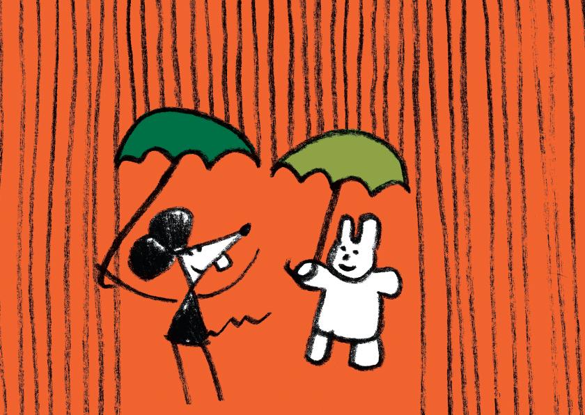 Vriendschap kaarten - Vriendschap Joep Hop slecht weer