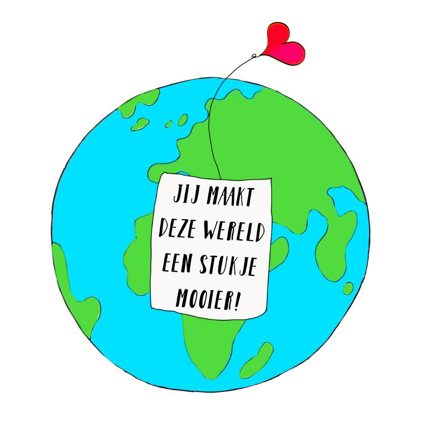 Vriendschap kaarten - Vriendschap kaart mooie wereld