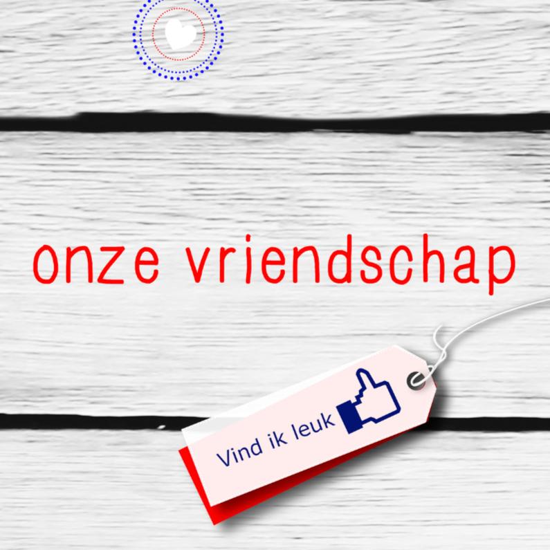 Vriendschap kaarten - Vriendschap knipoog nr facebook