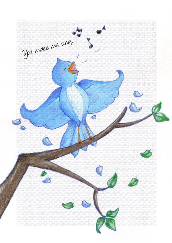 Vriendschap kaarten - Vriendschap You make me sing