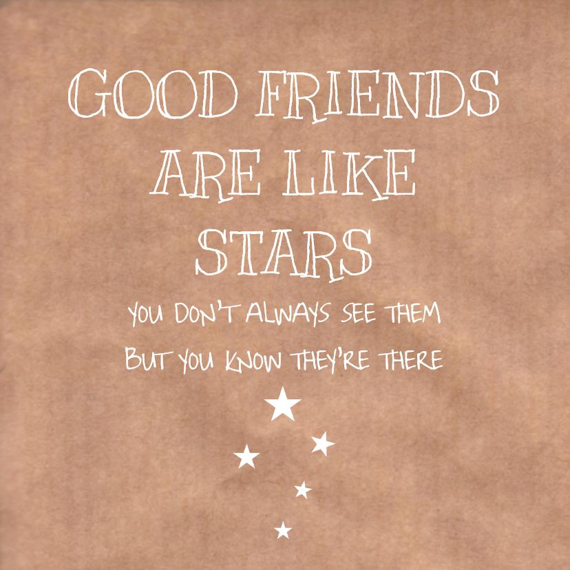 Vriendschap kaarten - Vriendschapskaart Stars
