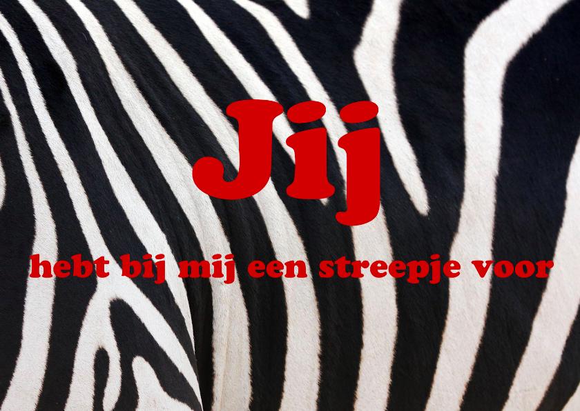 Vriendschap kaarten - Zebra 3