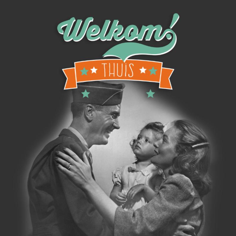 Welkom thuis kaarten - Soldaat retro-isf