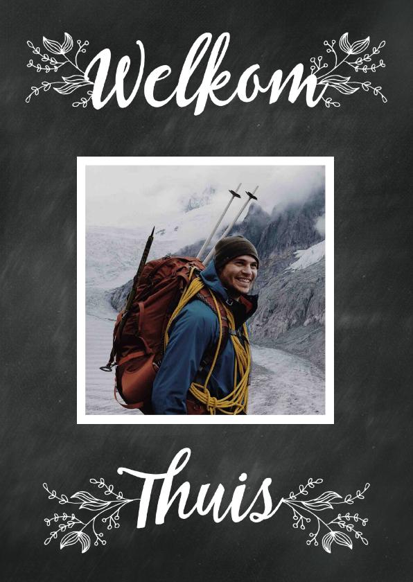 Welkom thuis kaarten - welkom thuis krijtbord-isf